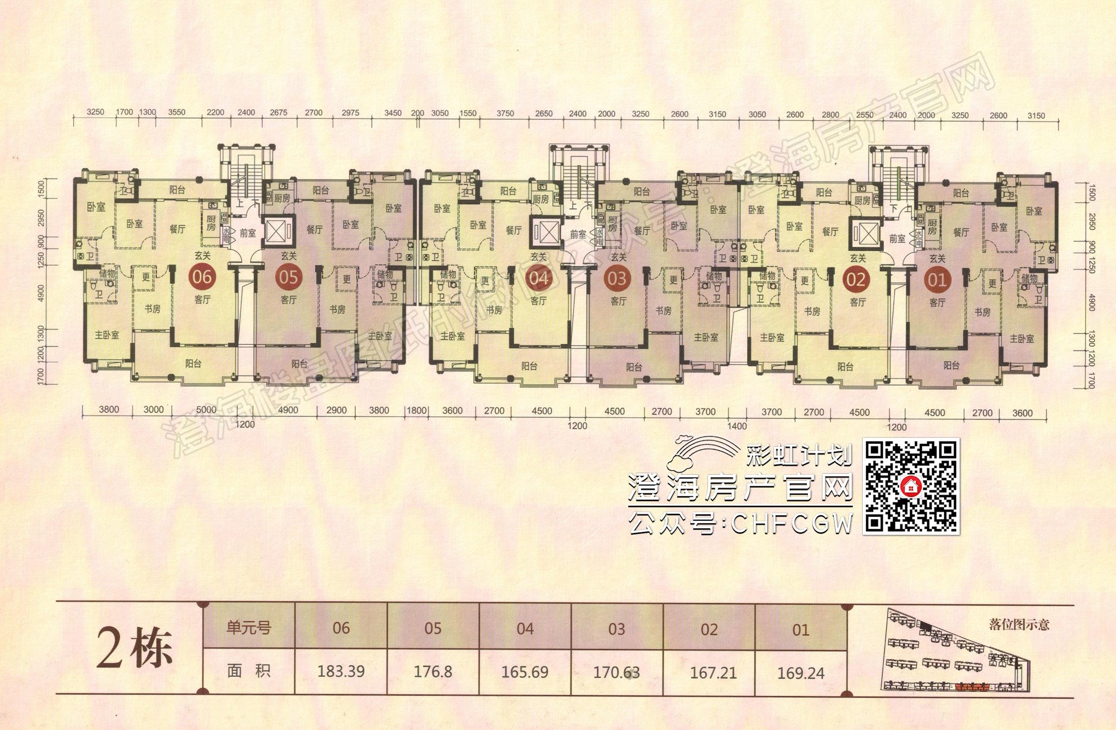 香域滨江一期高清户型图插图3