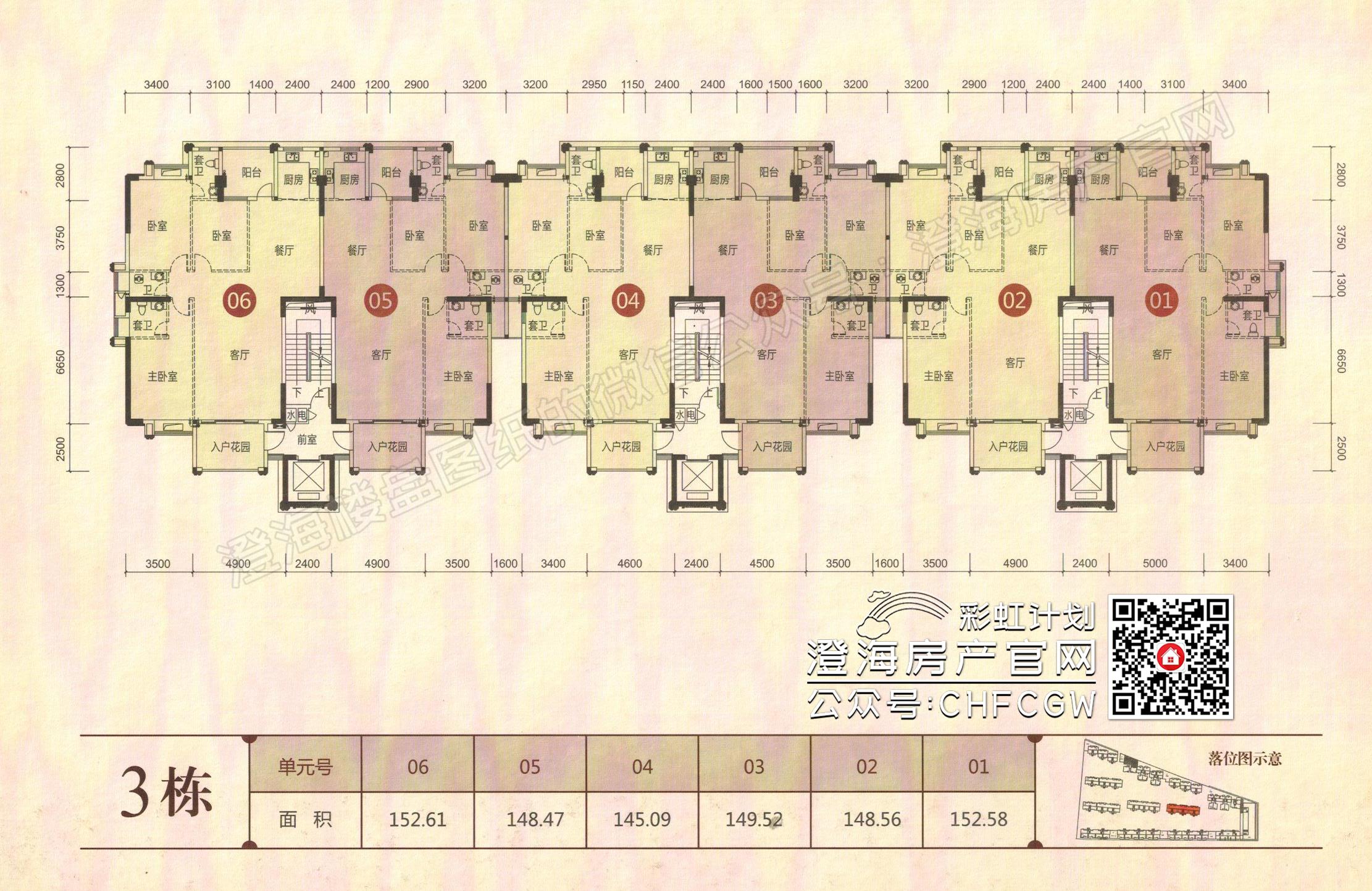 香域滨江一期高清户型图插图4